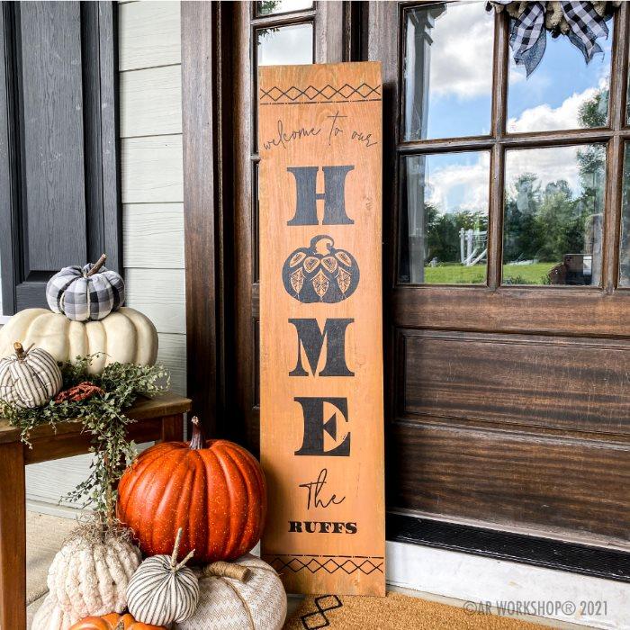 Boho Pumpkin Welcome To Our Home Family Porch