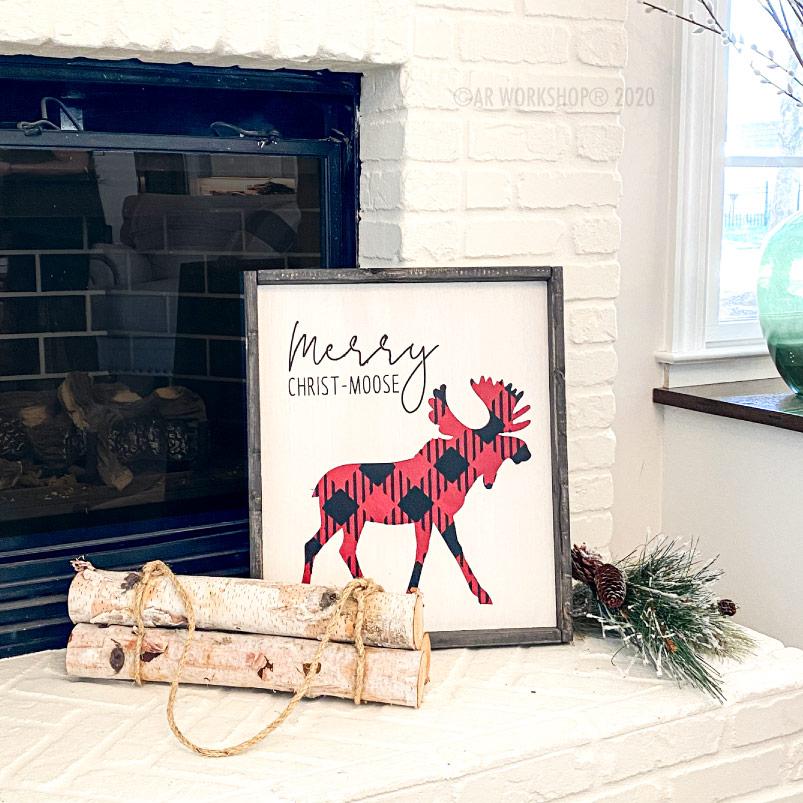 Buffalo Check Merry Christ Moose