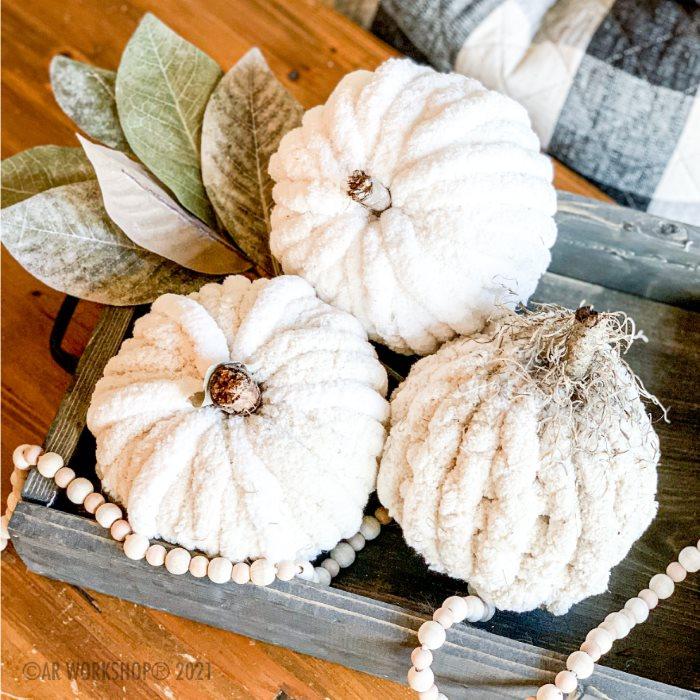 Chunky Knit Pumpkins