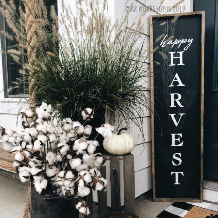 Happy Harvest Porch Sign
