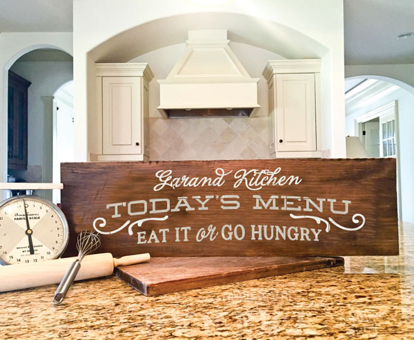 today's menu wood sign kitchen decor