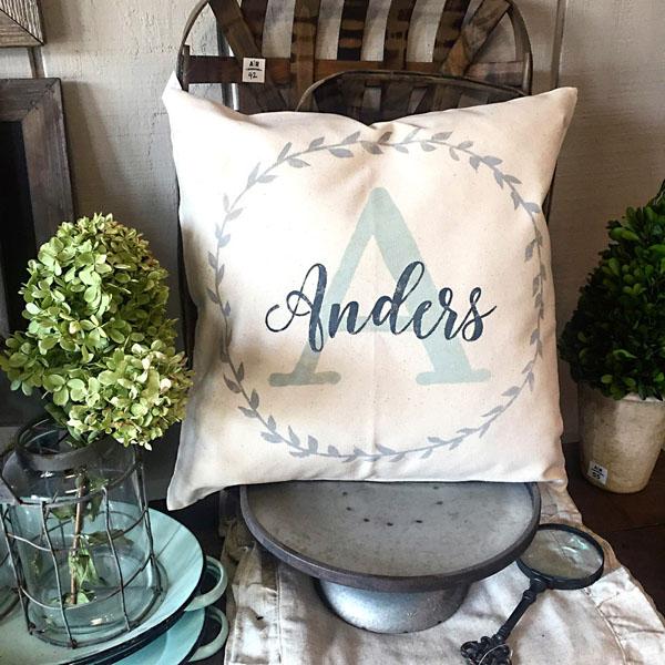 vineyard family monogram name pillow customized diy