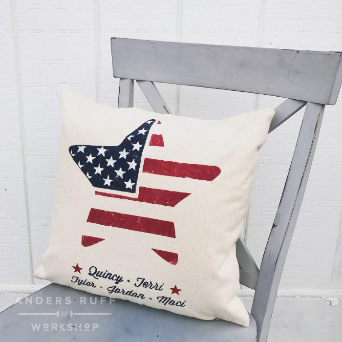usa flag pillow canvas diy