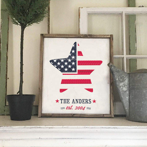 american flag wood sign customized decor