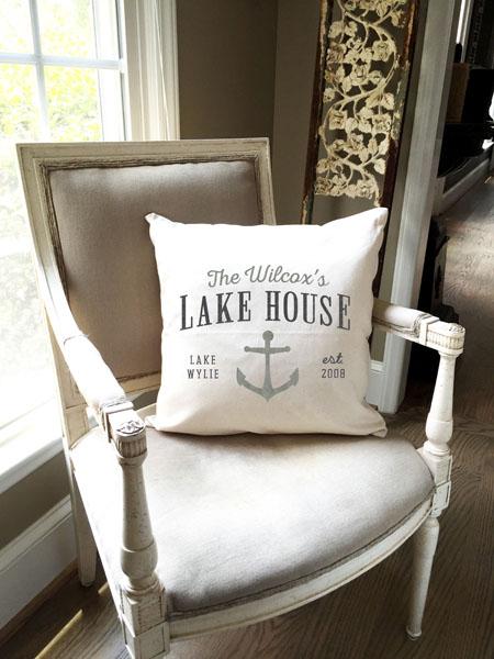 lake anchor customized established pillow