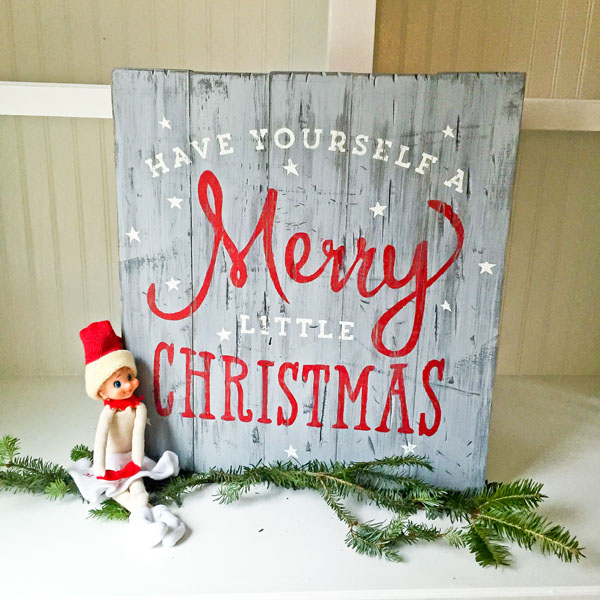 merry christmas wood sign pallet decor