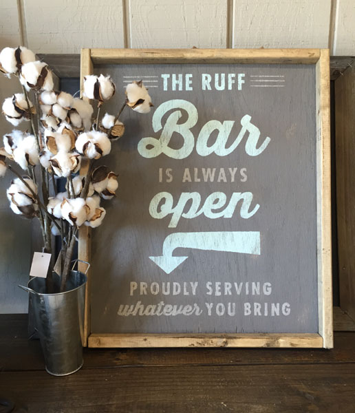 bar wood sign decor customized