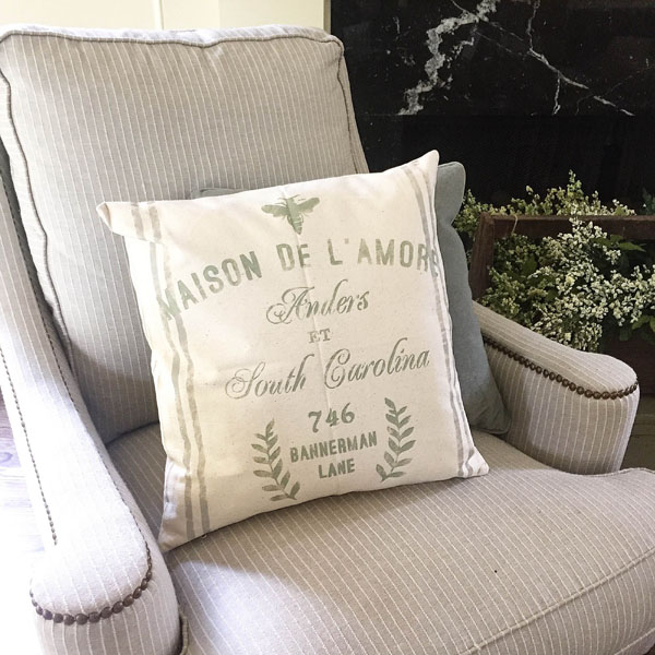 french bee address customized pillow