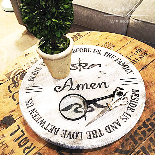 bless this food prayer wood lazy susan home decor