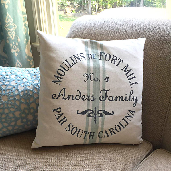 state customized french pillow cover