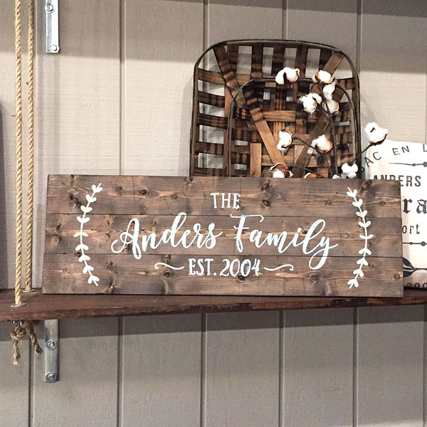 family established wood sign pallet sign