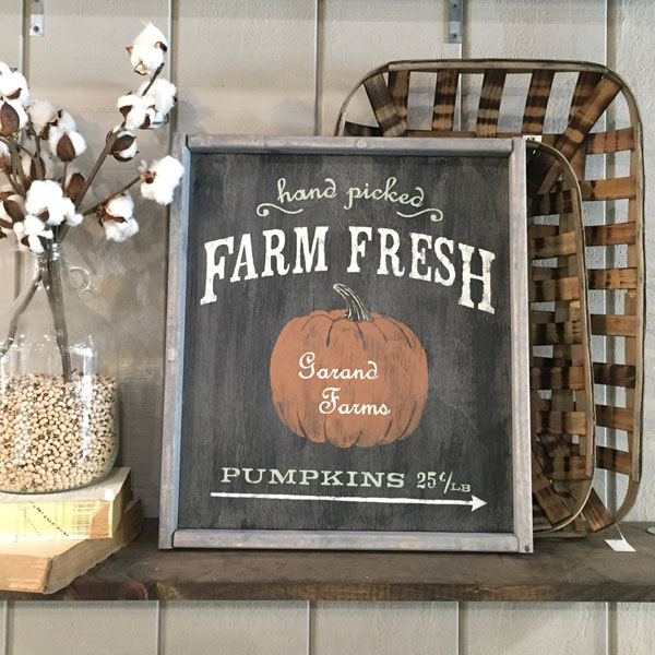 farm fresh pumpkin wood sign fall decor customized