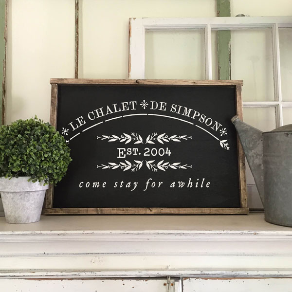 french wood sign guest room decor customized