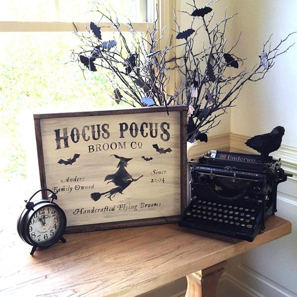 hocus pocus witch wood sign halloween decor