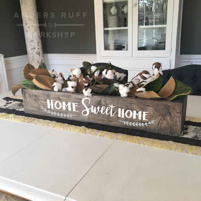 home sweet home centerpiece box wood decor