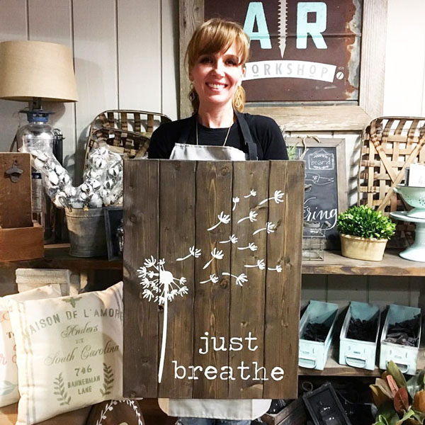 just breath dandelion wood sign pallet home decor