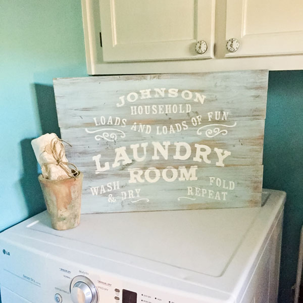 laundry room wood sign loads of fun
