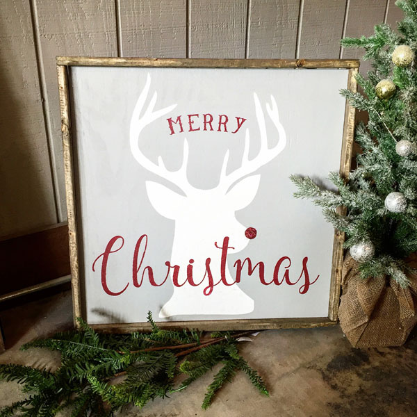 rudolph merry christmas oversized sign home decor