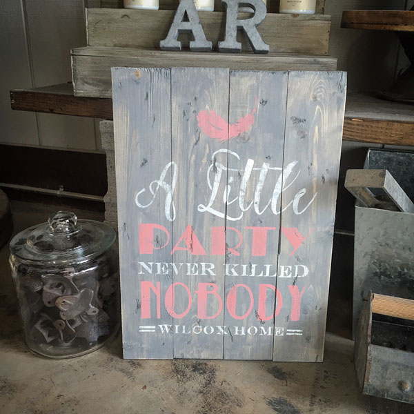a little party wood sign pallet