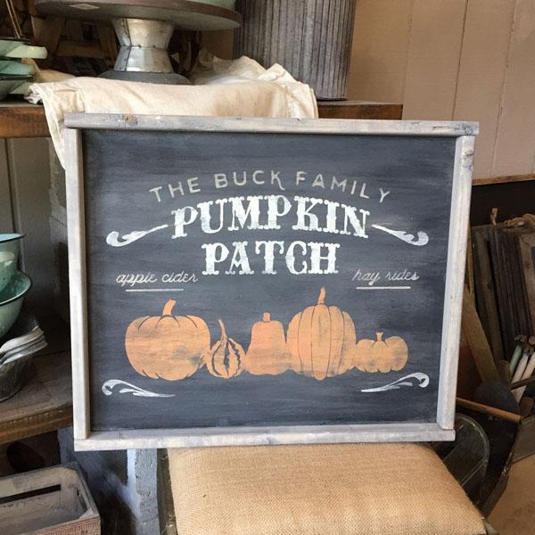 pumpkin patch wood sign fall decor halloween