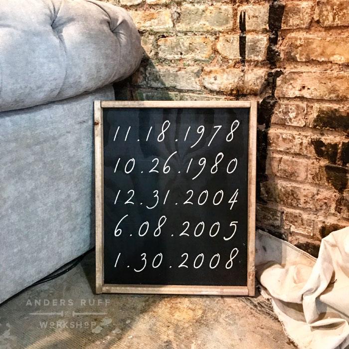 birthdates anniversary wood sign