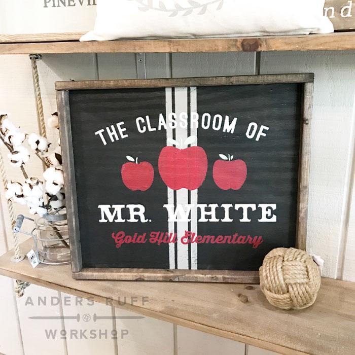 teacher wood diy sign school sign