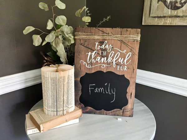 today i am thankful for wood sign pallet chalkboard thanksgiving