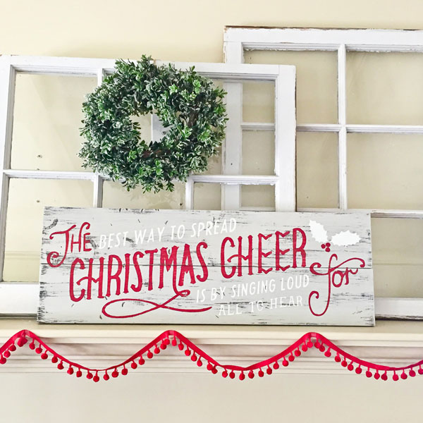 the best way to spread christmas cheer wood sign elf quote pallet