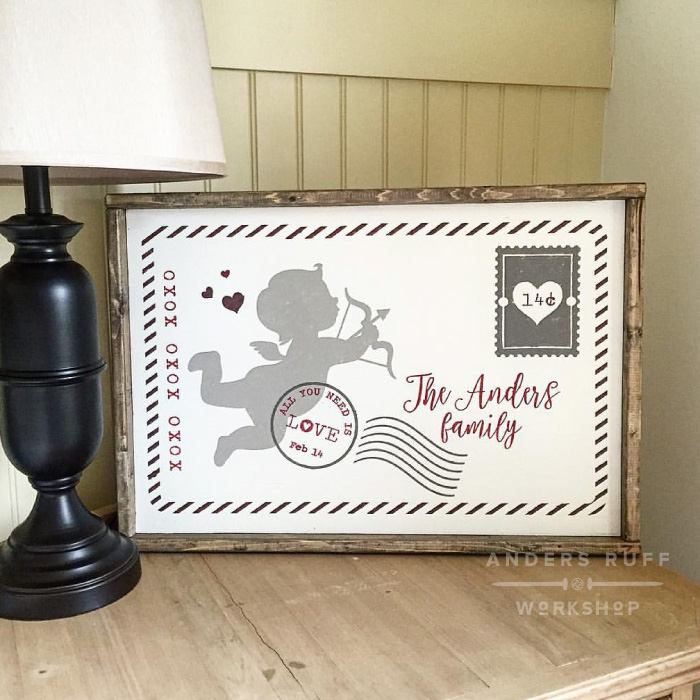 valentines day wood sign home decor customized