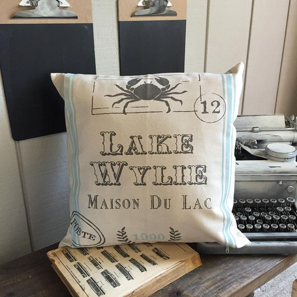 french stamp pillow home decor