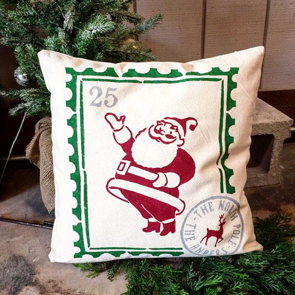 santa stamp christmas home decor customized