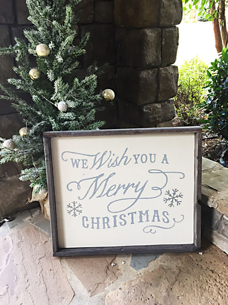 we wish you a merry christmas wood sign home decor