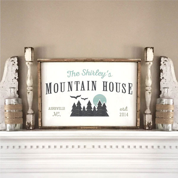 mountain house wood sign cabin decor