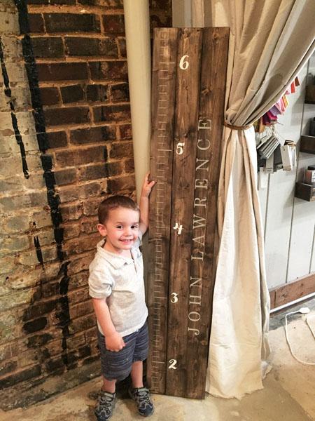 growth chart wood sign customized nursery decor