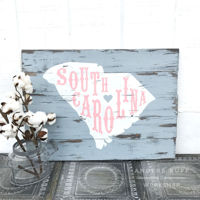 home state map wood sign diy wood