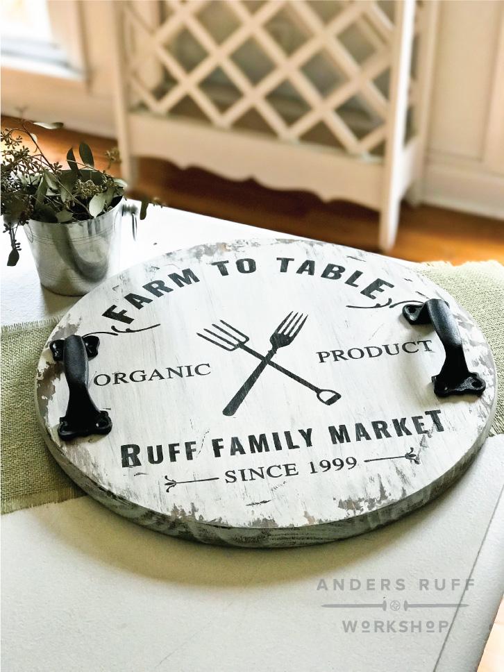 diy farmhouse table wood tray