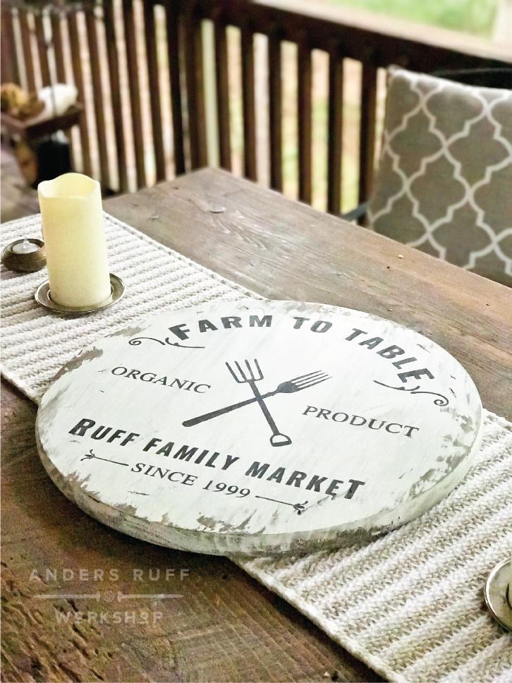 diy wood round sign farmhouse table sign