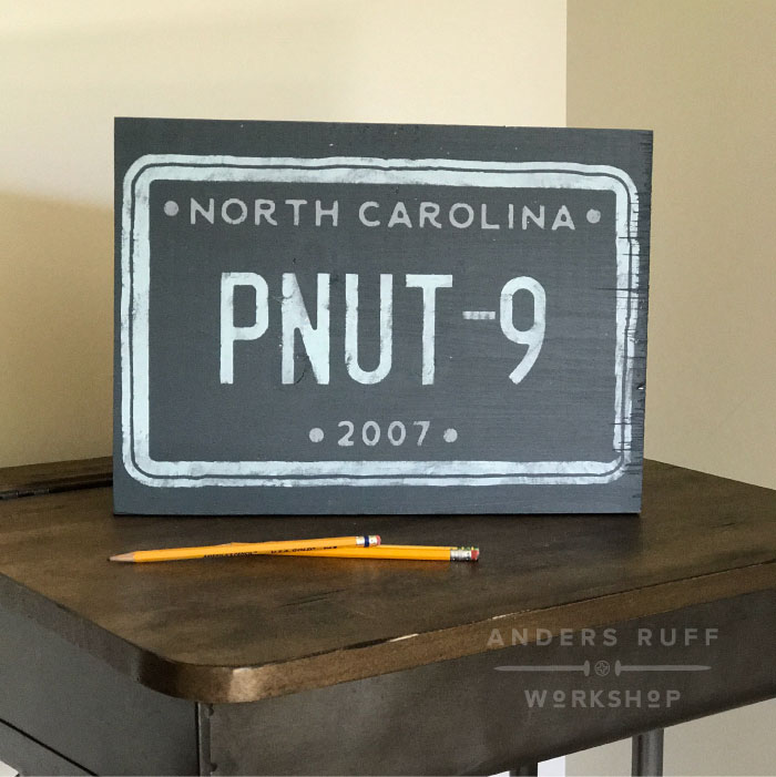 license plate custom youth sign diy