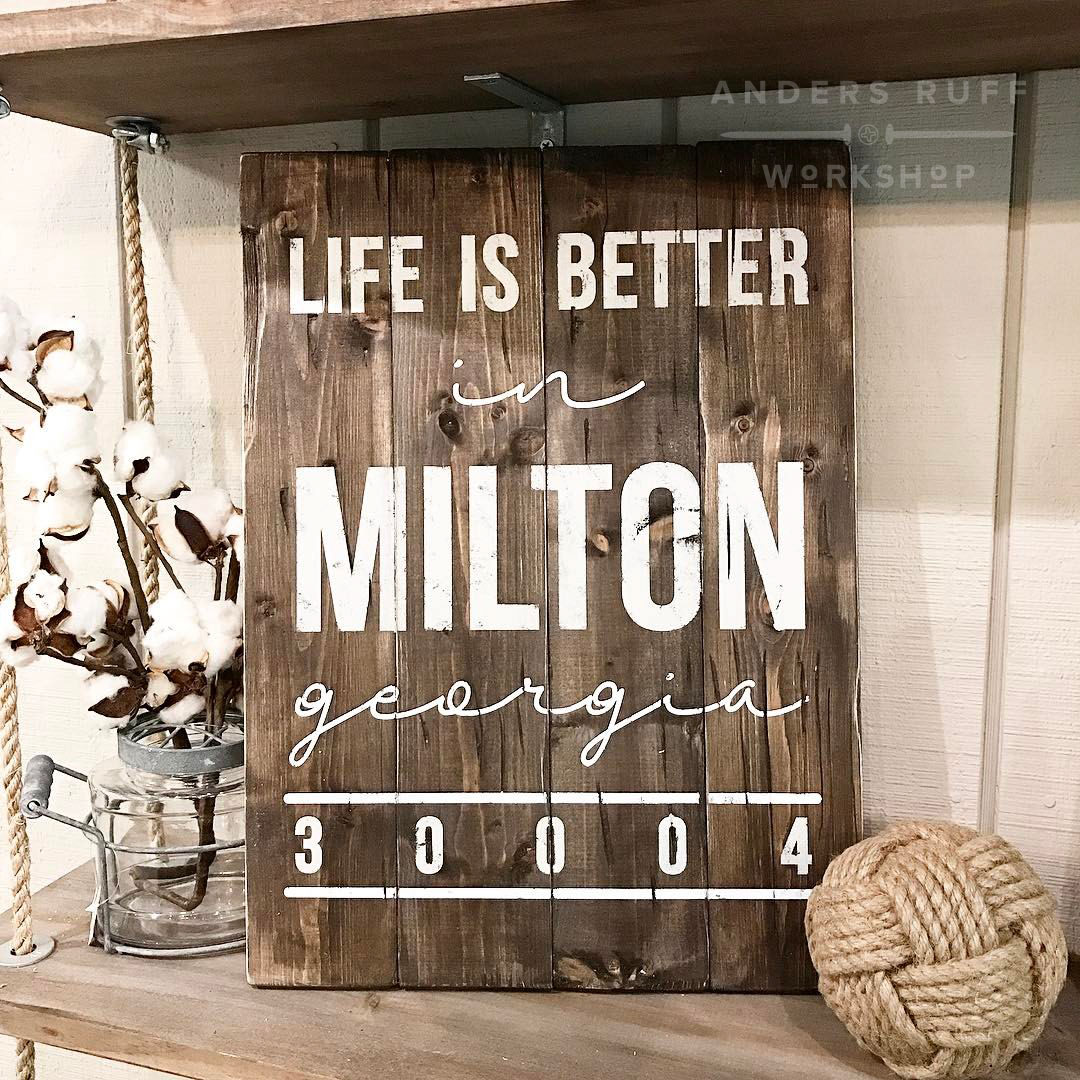 life is better in wood sign custom