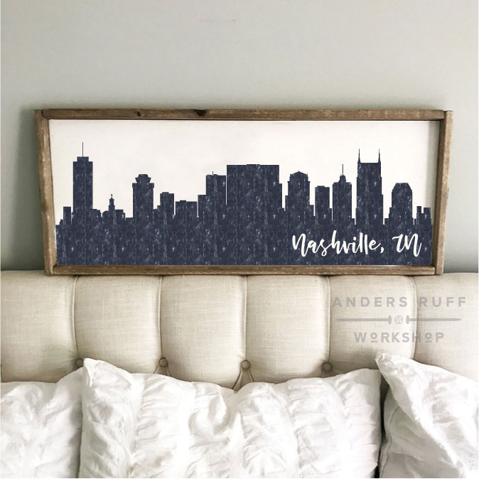 nashville skyline wood sign diy
