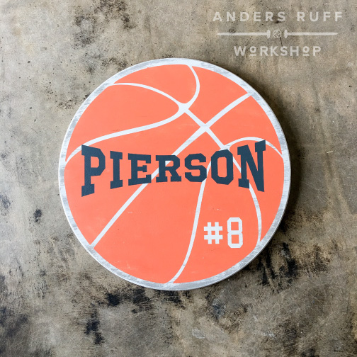 basketball sports sign custom
