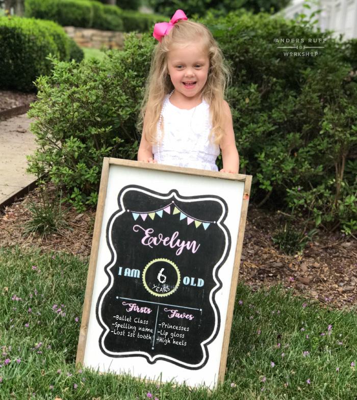 Birthday Chalkboard Framed Sign