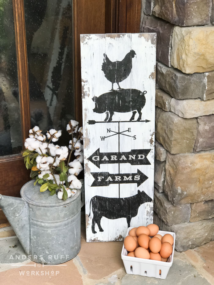 Farmhouse Animals Wood Sign