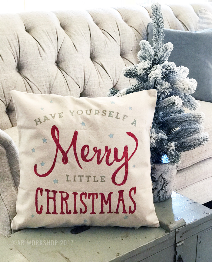 have yourself a merry little christmas pillow diy canvas