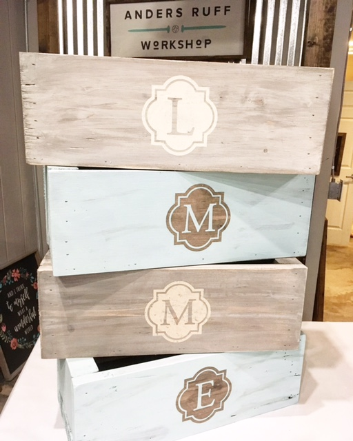 mini planter monogram box