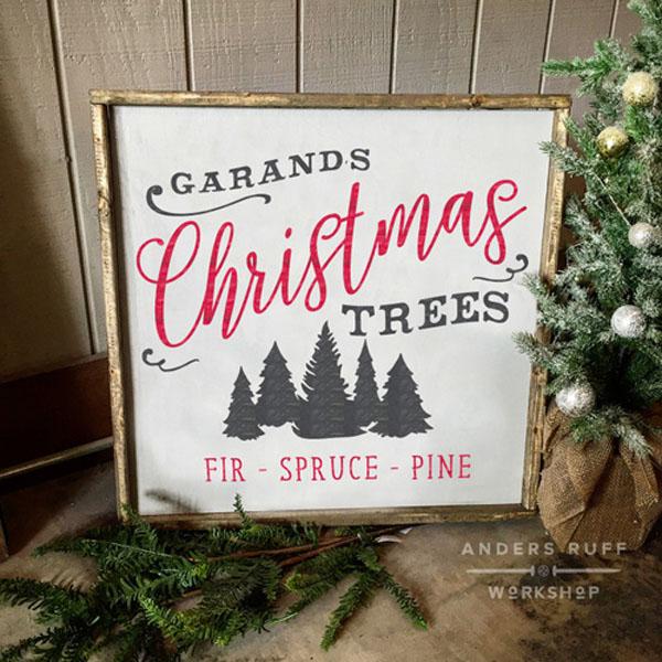 christmas tree farm wood sign diy
