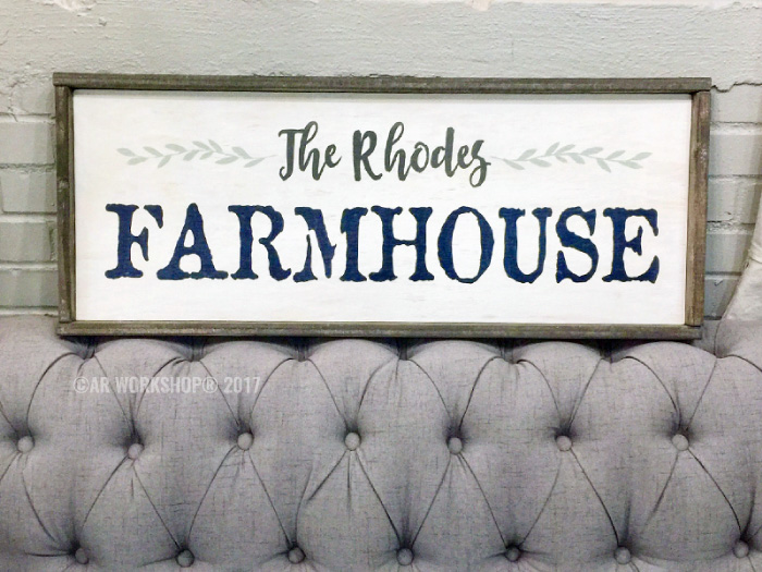 Family Farmhouse Framed Wood Sign diy
