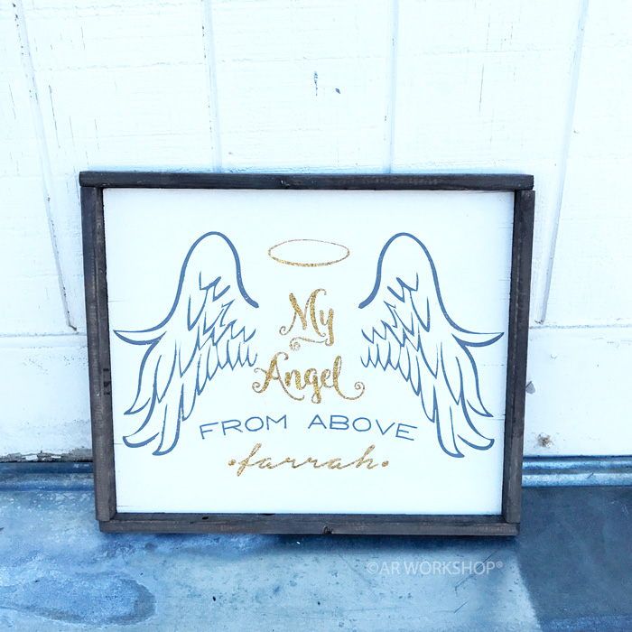 angel from above framed sign
