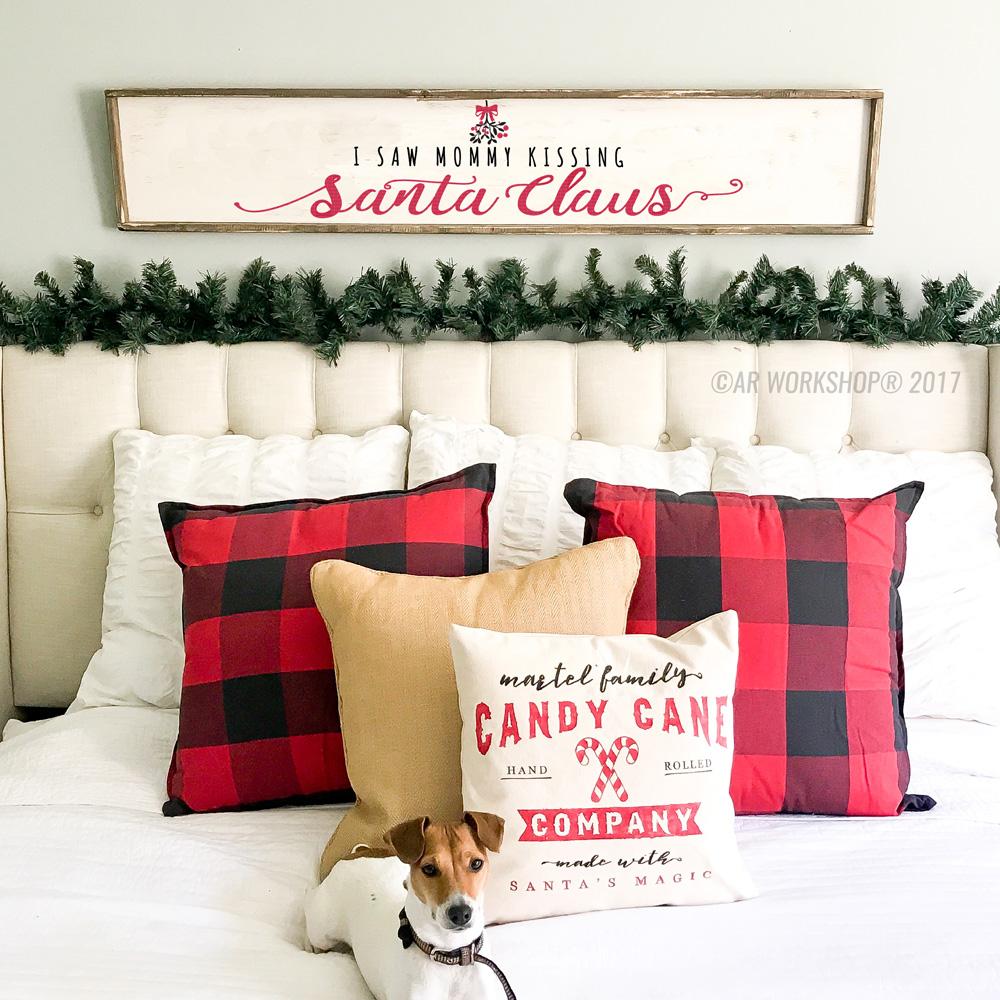 i saw mommy kissing santa framed sign