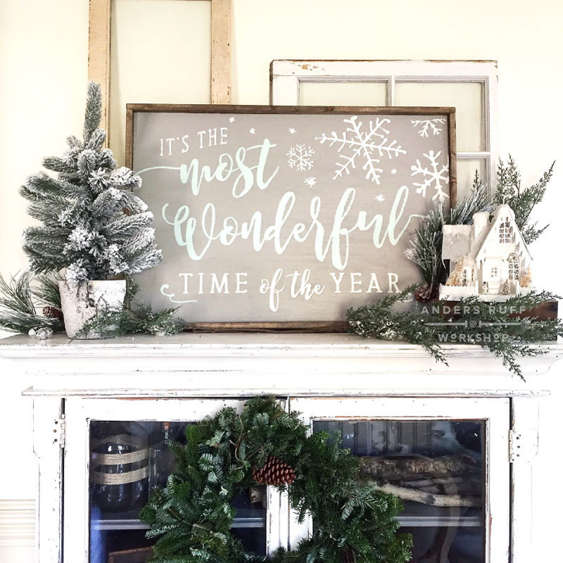 the most wonderful time of the year framed sign-18x26